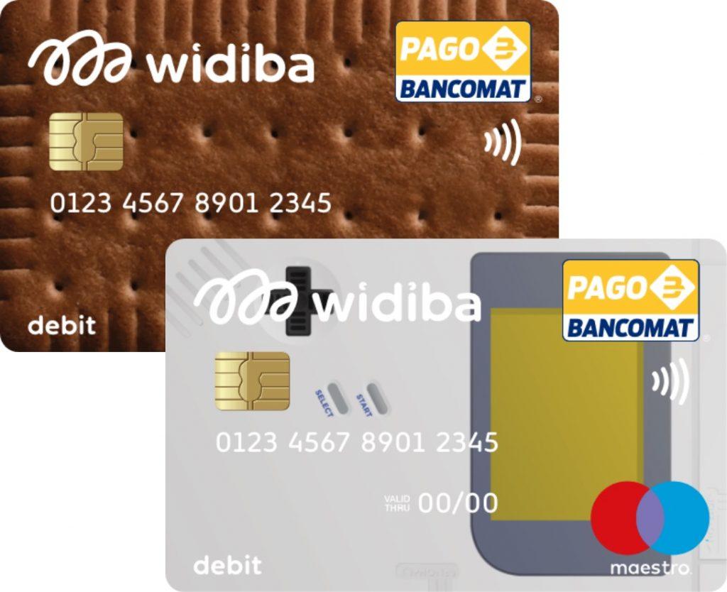 Anteprima delle carte di debito Widiba