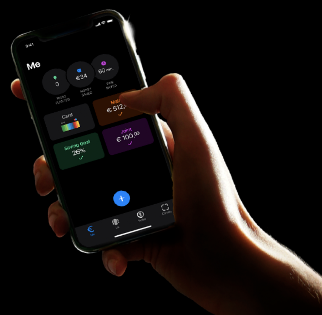 Anteprima dell'app Bunq | Bunq travel card con conto corrente