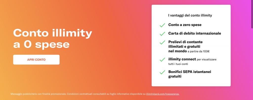 Conto corrente Illimity Bank | Anteprima del sito Illimity Bank